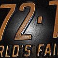 1965 New York World's Fair License Plate by Bill Owen