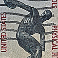 1965 Physical Fitness Stamp by Bill Owen
