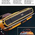 1967 Camaro Ss by Digital Repro Depot