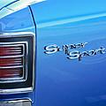 1967 Chevrolet Chevelle Super Sport Taillight Emblem by Jill Reger