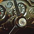 1968 Aston Martin Db6 Steering Wheel Emblem by Jill Reger