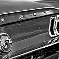 1968 Ford Mustang Gt B/w by Gordon Dean II