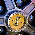1968 Ford Shelby Gt500 Kr Convertible Wheel Emblem by Jill Reger