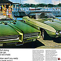 1969 Pontiac Gto And Firebird by Digital Repro Depot
