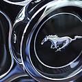 1970 Ford Mustang Gt Mach 1 Wheel Rim Emblem by Jill Reger