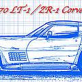 1970 Lt-1 And Zr-1 Corvette Blueprint by K Scott Teeters