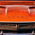 1971 Dodge Challenger - Orange Mopar Typography - Mp002 by Gordon Dean II