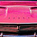 1971 Dodge Challenger - Pink Mopar Typography by Gordon Dean II