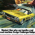 1973 Dodge Challenger Rallye by Digital Repro Depot