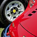 1973 Ferrari 246 Gts Dino Emblem 5 by Jill Reger