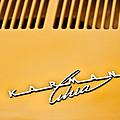 1973 Volkswagen Karmann Ghia Convertible Emblem by Jill Reger