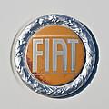 1977 Fiat 124 Spider Emblem by Jill Reger