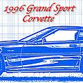 1996 Grand Sport Corvette Blueprint by K Scott Teeters