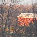 1nov2012 Sunrise On Red Barn by Tina M Wenger
