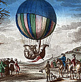 1st Manned Hydrogen Balloon Flight, 1783 by Photo Researchers