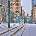1st Real Snowfall Metro Rail 2012 by Michael Frank Jr