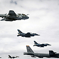 A B-52 Stratofortress Leads A Formation by Stocktrek Images