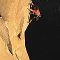 A Man Rock Climbing On El Capitan by Jimmy Chin