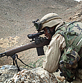 A Soldier Provides Security by Stocktrek Images