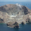 Aerial View Of White Island Volcano by Richard Roscoe