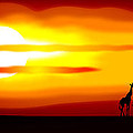 Africa Sunset by Michal Boubin