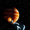 Artwork Of First Comet Impacts On Jupiter, 1994 by Julian Baum