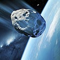 Asteroid Approaching Earth, Artwork by Detlev Van Ravenswaay