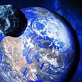 Asteroid Approaching Earth by Detlev Van Ravenswaay