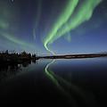Aurora Borealis Over Long Lake by Jiri Hermann