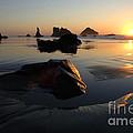 Bandon Beach Sunset by Bob Christopher