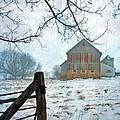Barn In Winter by Jill Battaglia