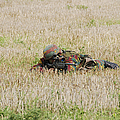 Belgian Paratroopers On Guard by Luc De Jaeger