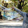 Bubble Boy Of Central Park by Rob Hans