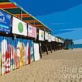 Cocoa Beach Pier Florida by Allan  Hughes