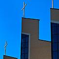 Crosses Of Livingway Church by Ed Gleichman