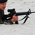 Dutch Royal Marines Taking Part by Luc De Jaeger