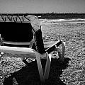 Empty Sun Lounger On Cyprus Tourist Organisation Municipal Beach In Larnaca Bay Republic Of Cyprus by Joe Fox