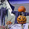 Fall  Halloween On Tillson Street by LeeAnn McLaneGoetz McLaneGoetzStudioLLCcom