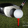 Golf Ball And Club by Ted Kinsman