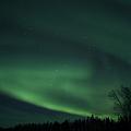 Green Aurora Above Far Lake by Yuichi Takasaka