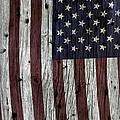 Grungy Textured Usa Flag by John Stephens