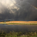 Hail Storm And Rainbow by Mark Duffy