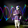 Juggling Light-up Balls by Ted Kinsman