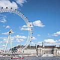 London Eye And County Hall by Dawn OConnor