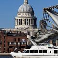 Millenium Bridge And St Pauls Cathedral by David Pyatt