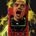 Mobile Phone Rage by Victor Habbick Visions