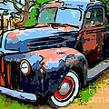 Nostalgic Rusty Old Truck . 7d10270 by Wingsdomain Art and Photography