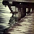 Old Wooden Pier With Stairs Into The Lake by Joana Kruse