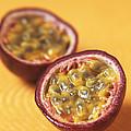 Passion Fruit Halves by Veronique Leplat