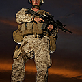 Portrait Of A U.s. Marine In Uniform by Terry Moore